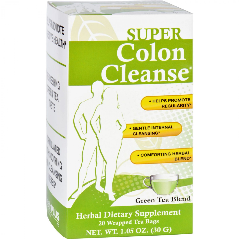 Health Plus Tea - Super Colon Cleanse - Green - 20 Bags