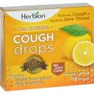 Herbion Naturals Cough Drops - All Natural - Honey Lemon - 18 Drops