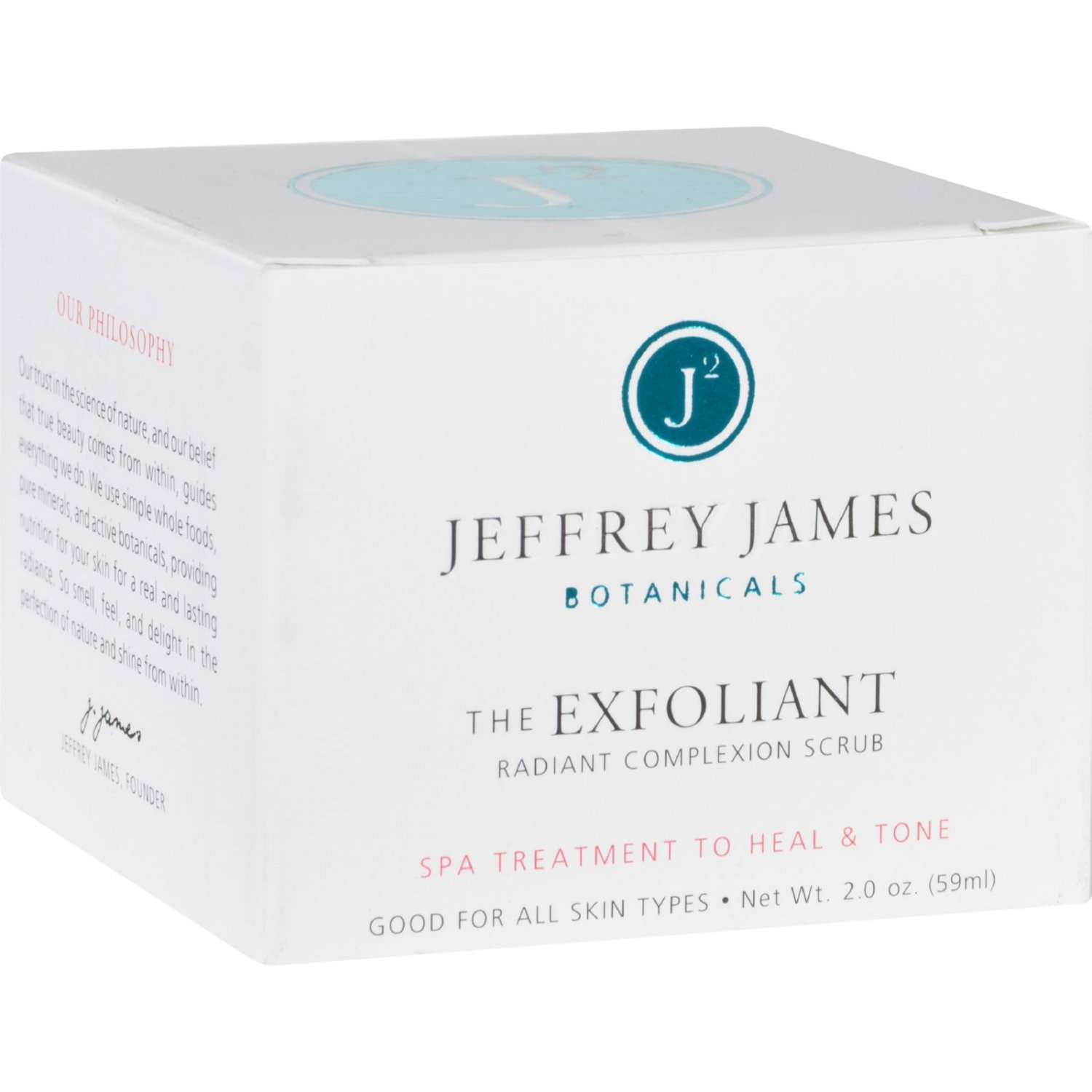 Jeffrey James Botanicals Complexion Scrub - The Exfoliant - Radiant - 2 oz