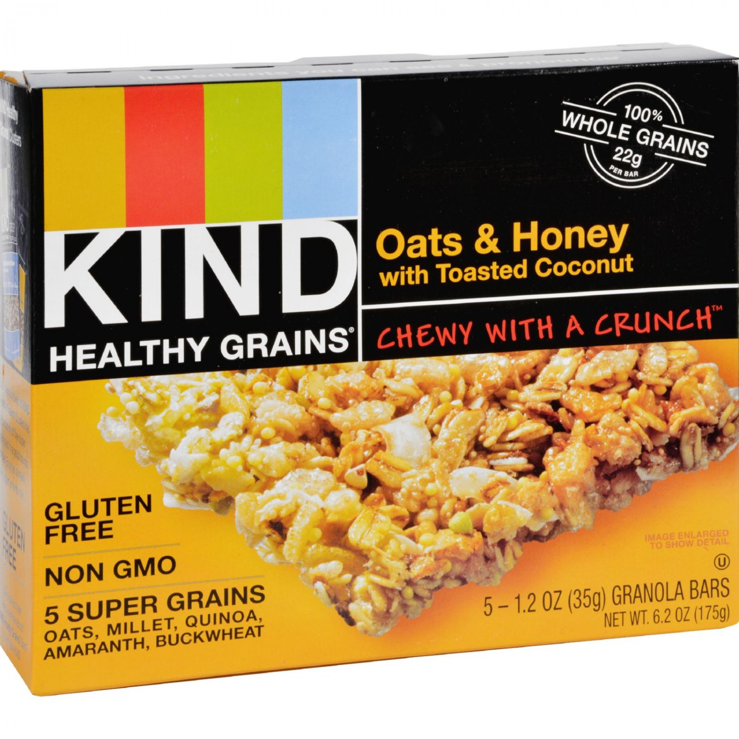 Kind Bar - Granola - Healthy Grains - Oats and Honey with Toasted Coconut - 1.2 oz - 5 Count - Case