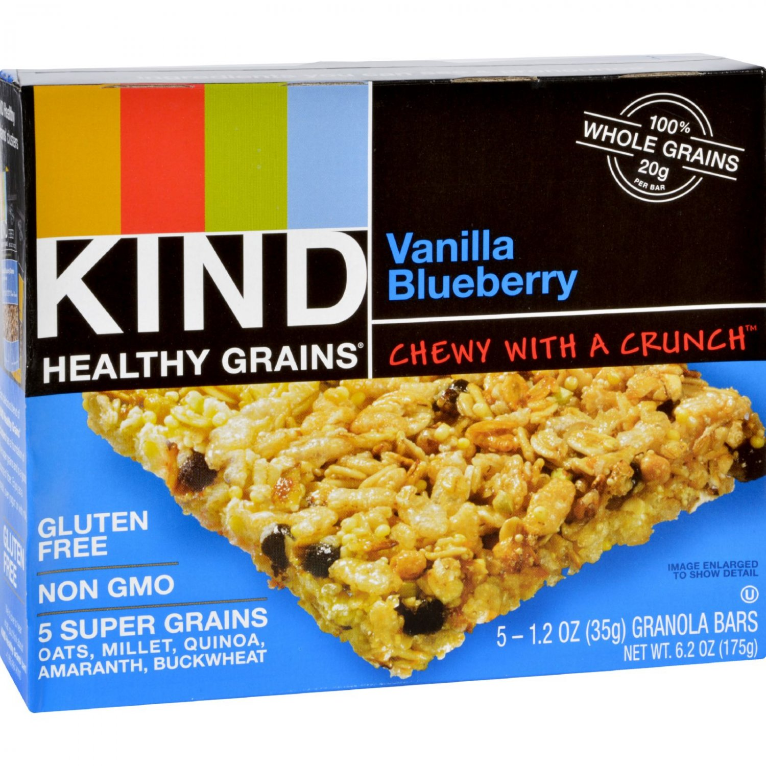 Kind Bar - Granola - Healthy Grains - Vanilla Blueberry - 1.2 oz - 5 Count - Case of 8