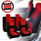 Car Seat Cover 13-Piece Set Red Universal