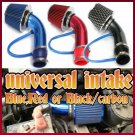 BLUE,RED OR BLACK CARBON Universal Performance Cold Air Intake Filter HOSE System