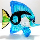 Blue Black FISH Blown Glass Aquarium Miniature Animal Figurine Collectible Gifts