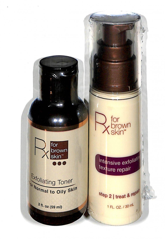 Rx for Brown Skin Exfoliating toner 2oz. & step 2 treat & repair 1oz.