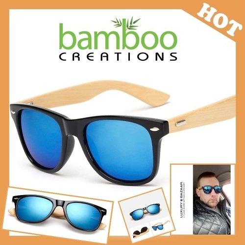 "Bamboo Sunglasses ""Blue Mercury"""