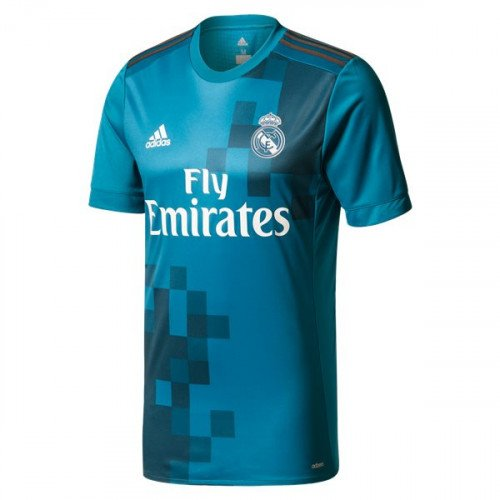 Men's Real Madrid SOCCER Third Jersey 2017-2018 -blue-Best Quality