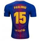 Barcelona Paulinho #15 Home 2019-2020 Jersey SOCCER