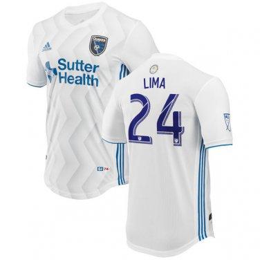 best service 65b69 840fb Nick Lima #24 San Jose Earthquakes 2018 MLS SOCCER Jersey