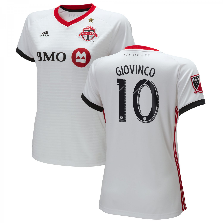 Women's Giovinco #10 Toronto FC 2018-2019 AWAY MLS SOCCER Jersey