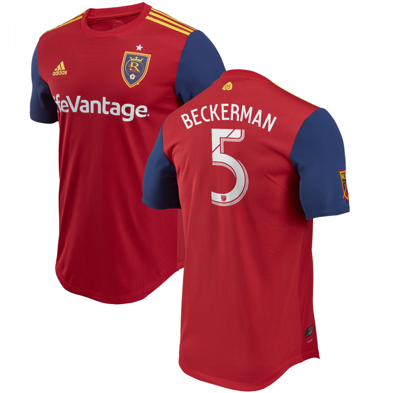 Kyle Beckerman #5 Real Salt Lake 2018-2019 Home MLS SOCCER Jersey