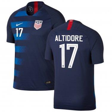 outlet store e07d0 d8718 Jozy Altidore #17 USMNT USA Away 2018-2019 SOCCER Jersey – Navy