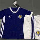 Scotland Home Blue World Cup 2018-2019 Jersey W Shorts Kid Youth For Age 3-13