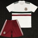 Mexico away white World Cup 2018-2019 Jersey W Shorts Kid Youth For Age 3-13