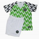 Nigeria home green World Cup 2018-2019 Jersey W Shorts Kid Youth For Age 3-13