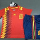 Spain home World Cup 2018-2019 Jersey W Shorts Kid Youth For Age 3-13