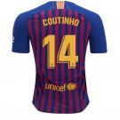 FAN SHIRT Coutinho #14 FC Barcelona 2018-2019 Home Jersey Free Shipping