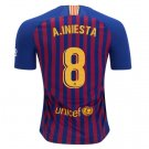 FAN SHIRT Andres Iniesta #8 FC Barcelona 2018-2019 Home Jersey Free Shipping