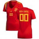 Women's Spain National Team 2018 Home Soccer Custom Jersey – Red
