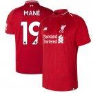 Sadio Mane #19 Liverpool 2018/2019 Home SOCCER Jersey -Red