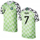 AHMED MUSA #7 Nigeria Team 2018-2019 Home Free Shipping Jersey – Green