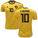 Eden Hazard #10 BELGIUM 2018-2019 Away Jersey -yellow-Best Quality