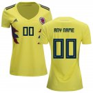 Women's Colombia futbol 2018/2019 Home Custom Jersey -Yellow