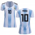 Women's Messi #10 Argentina Home Jersey 2018-2019