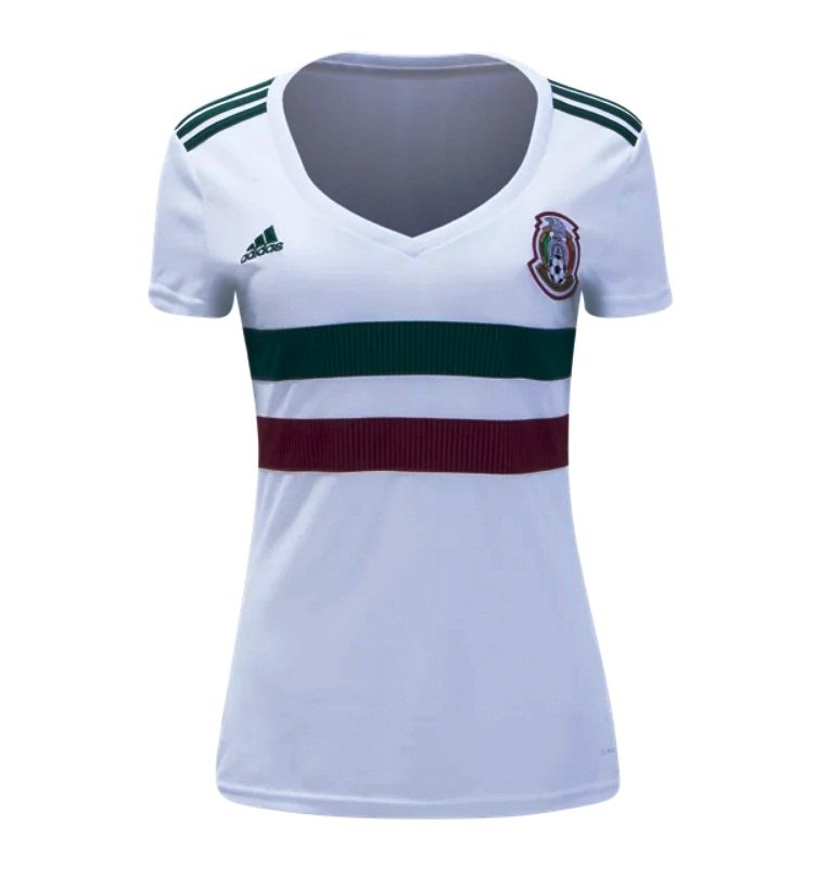 Women's Futbol Mexico Away Jersey 2018-2019 -blanco