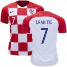 IVAN RAKITIC #7 Croatia Home Jersey SOCCER 2018-2019 -final #worldcup