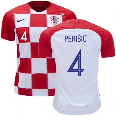 official photos c4ce9 75660 IVAN PERISIC #4 Croatia Home Jersey SOCCER 2018-2019 -final ...