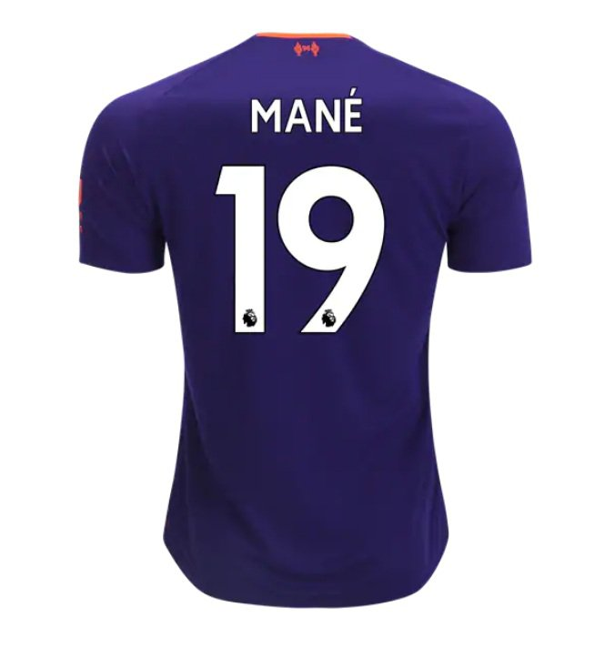 Sadio Mane #19 Liverpool 2018/2019 Away SOCCER Jersey � Purple