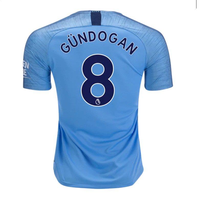 on sale 85518 600a7 Ilkay Gundogan #8 Manchester City home jersey 2018-19 blue -free shipping