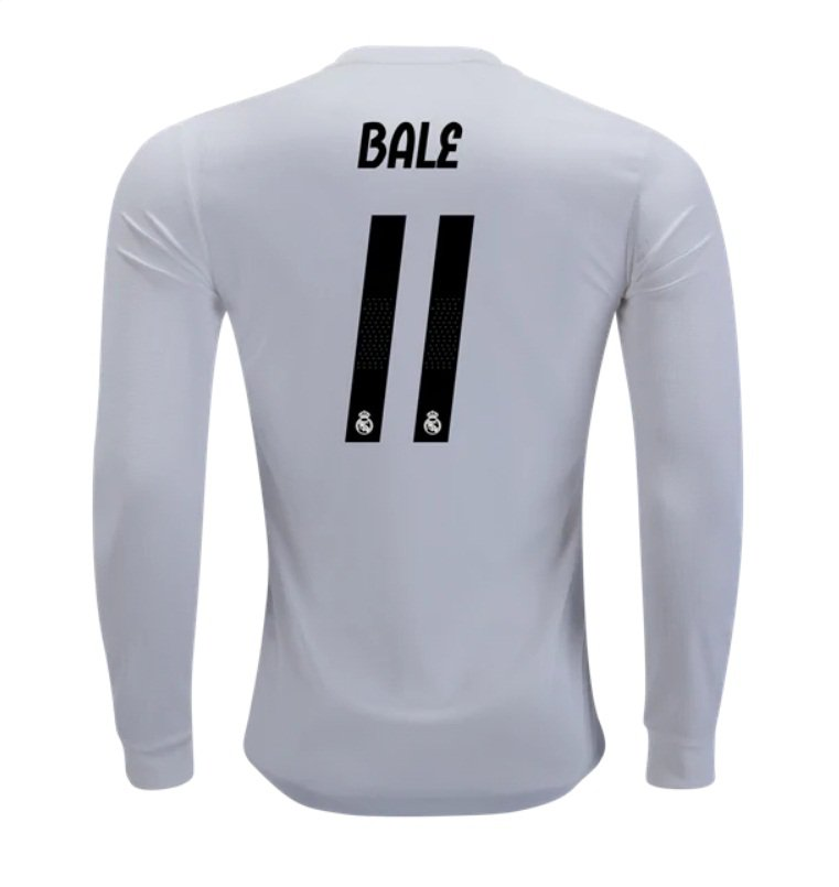 online store 3dd4c 8984e Gareth Bale #11 Real Madrid Long Sleeve 2018-2019 Home Jersey New Free  Shipping