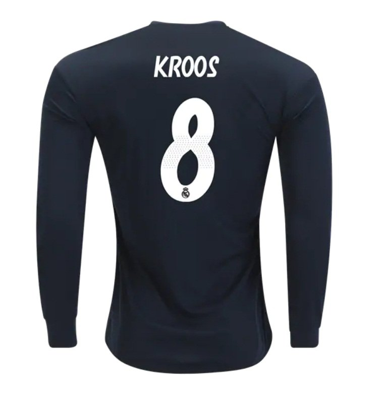 reputable site 0500a 094e3 Toni Kroos #8 Real Madrid Long Sleeve 2018-2019 away Jersey New Free  Shipping
