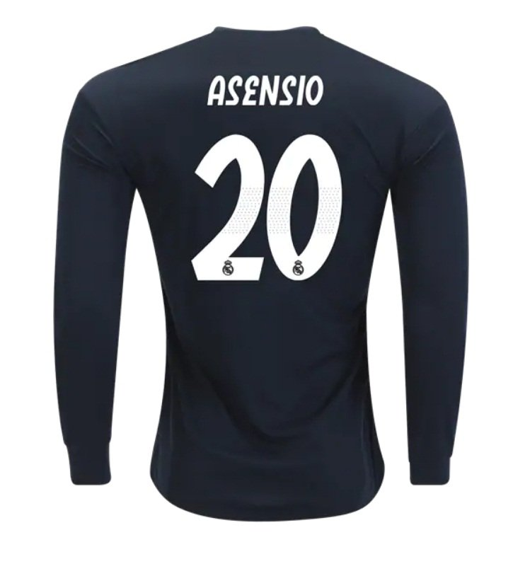 premium selection fd27d 6bdf8 Marco Asensio #20 Real Madrid Long Sleeve 2018-2019 away Jersey New Free  Shipping