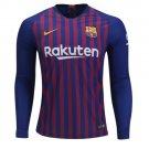 FAN SHIRT Barcelona 2018/19 Home Custom Jersey Long Sleeve - Free Shipping