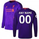 Liverpool New Balance 2018/2019 Away Custom Long Sleeve Jersey – Purple