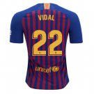 Arturo Vidal #22 FC Barcelona 2018-2019 Home Jersey Free Shipping
