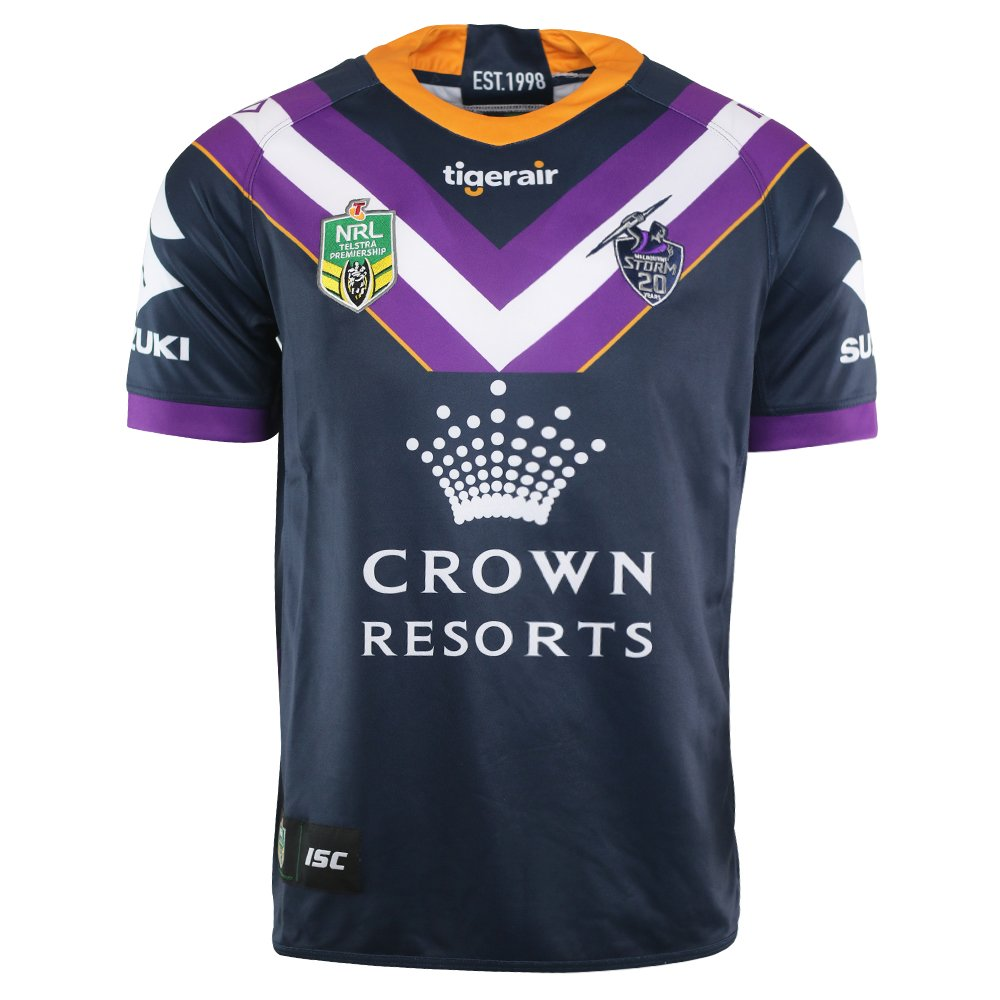 Fan Shirt Melbourne Storm 2018 NRL Home Jersey Adults, Sizes S-3XL