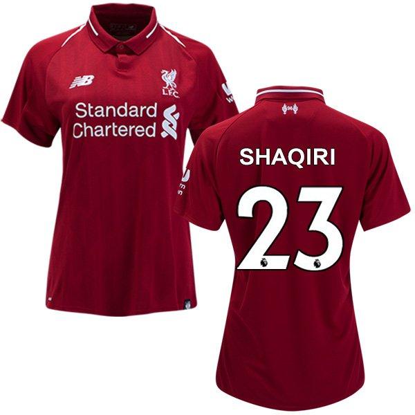 Women's 2018/2019 Soccer Liverpool FC Xherdan Shaqiri #23 Home Jersey Red