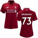 Kamil Grabara #73 Women's 2018/2019 Soccer Liverpool FC Home Jersey Red