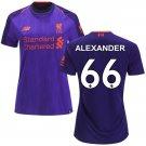 Trent Alexander-Arnold #66 Women's 2018/2019 Soccer Liverpool FC Away Jersey Purple