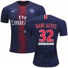 Dani Alves #32 FC Paris Saint-Germain 2018/2019 Home Jersey -Blue/Red
