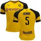 Achraf Hakimi #5 Borussia Dortmund 2018/2019 Home Jersey - Free Shipping
