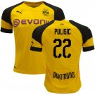 Christian Pulisic #22 Borussia Dortmund 2018/2019 Home Jersey - Free Shipping