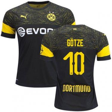 big sale 9f66e b0f41 Mario Gotze #10 Borussia Dortmund 2018/2019 AWAY Jersey ...
