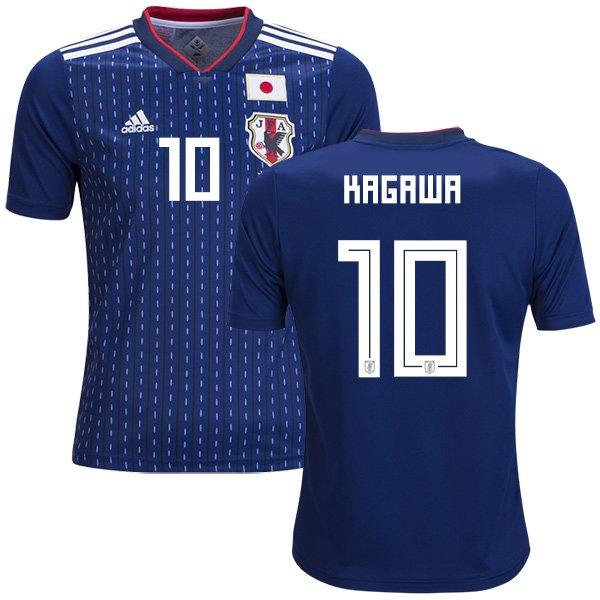 Shinji Kagawa #10 Japan Men Football Soccer Jersey Home Samurai Blue #Asiancup 2019