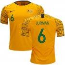 Matthew Jurman #6 Australia National Team #AsianCup2019 Home Jersey – Gold/Green