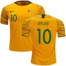 Robbie Kruse #10 Australia National Team #AsianCup2019 Home Jersey – Gold/Green
